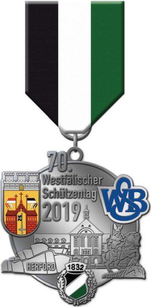 Festabzeichen Westfälischer Schützentag Herford 2019